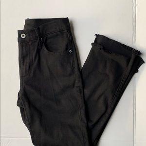James jeans hi low black jeans